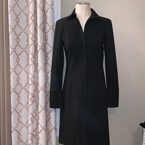 Parallel Fitted Suit Dress